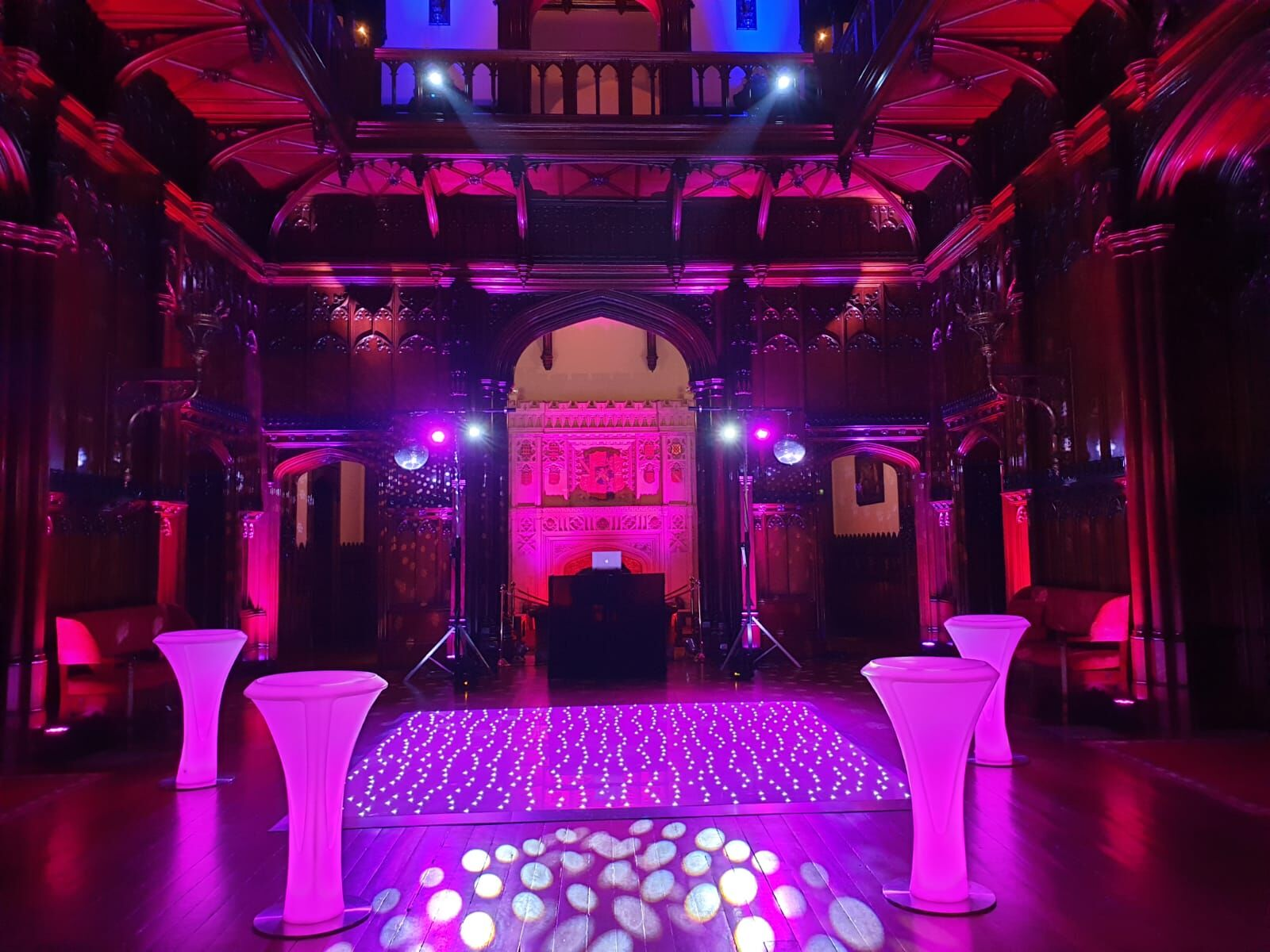 LED Dancefloor & poseur tables - Allerton Castle