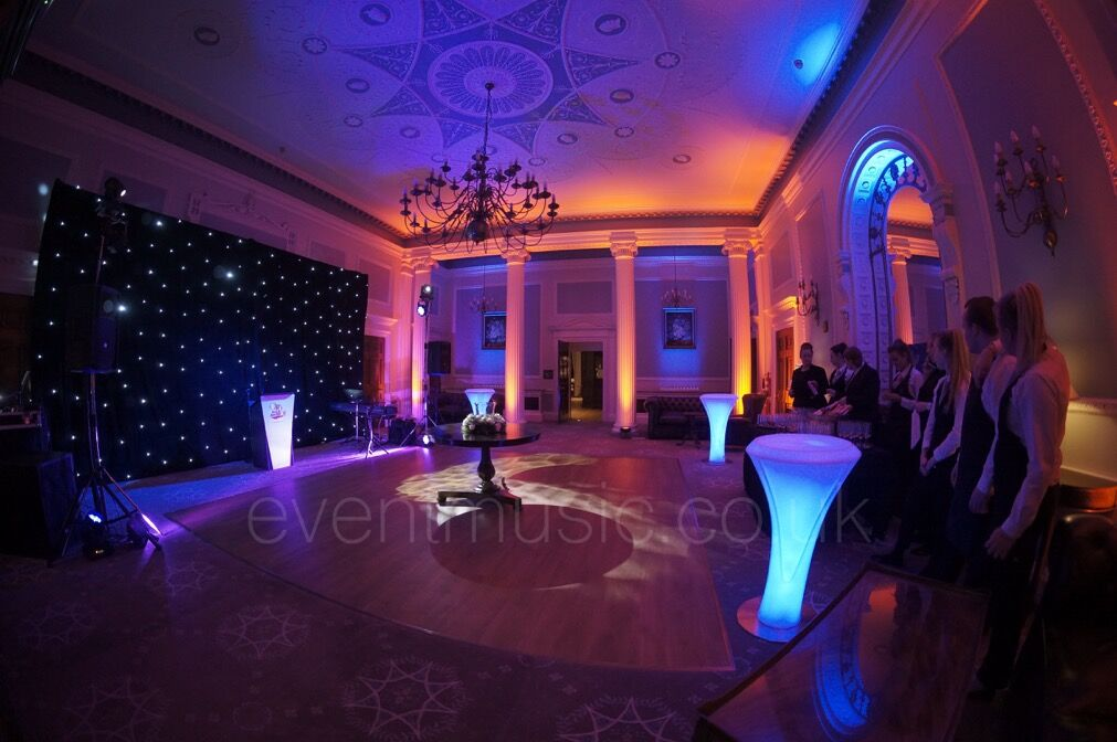 LED Poseur Tables - Denton Hall