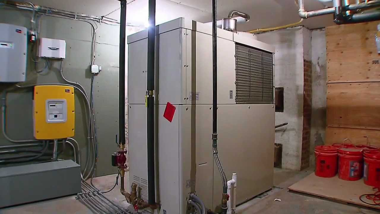Combined heating and power unit installation services