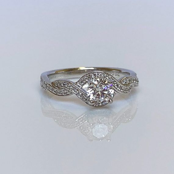 18ct White Gold & Diamond Fancy Twist Ring