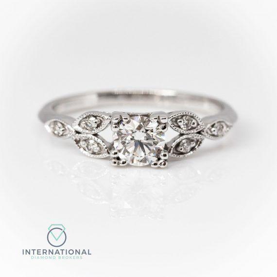 Deco Style Diamond Multistone