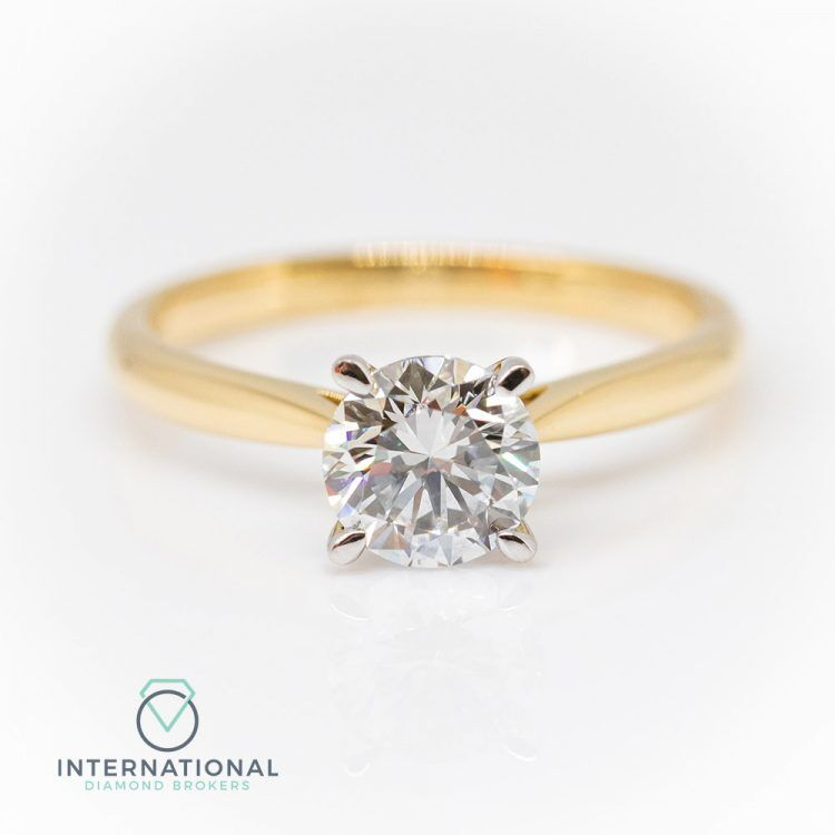 2e5957bc7a4c2 18ct Yellow Gold & 1.04ct Diamond 4 Claw Solitaire Engagement Ring