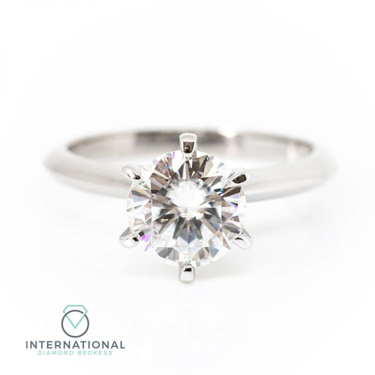 18ct White Gold & 1.20ct Diamond Solitaire Engagement Ring