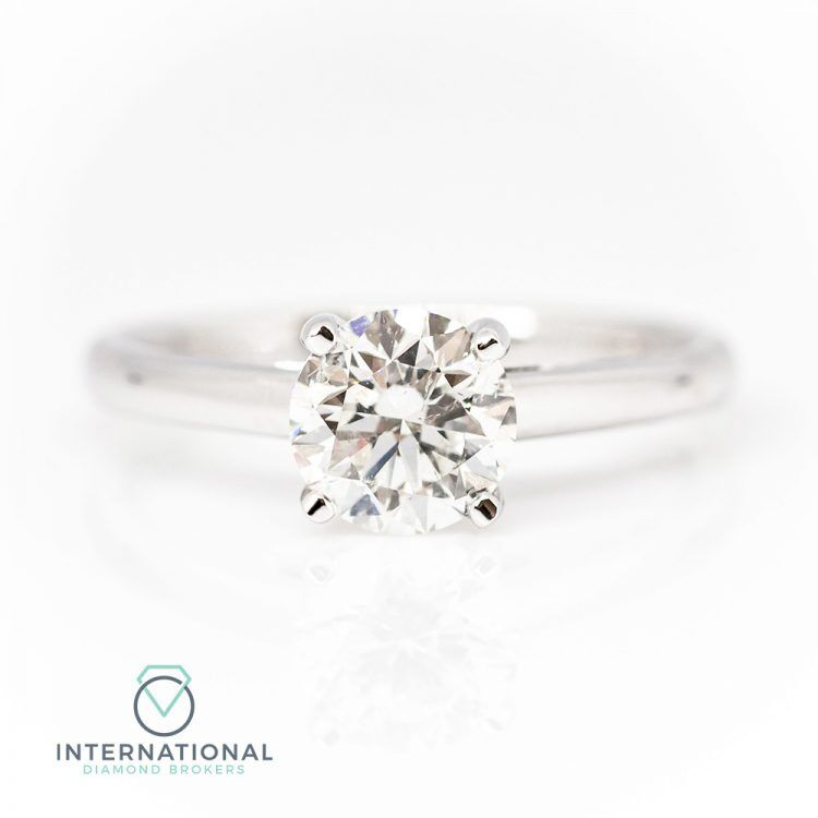 Platinum & 0.90ct Diamond Solitaire Engagement Ring