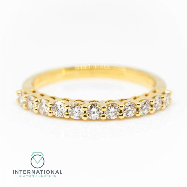 18ct Yellow Gold 0.45ct Diamond Half Eternity Ring