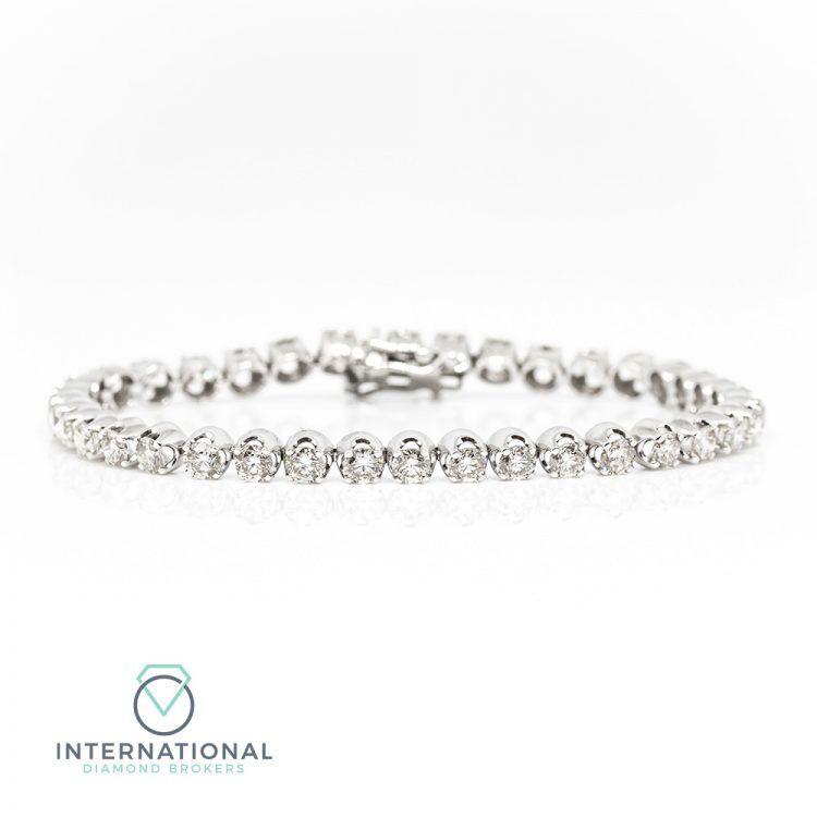 18ct White Gold & 7.25ct Diamond Tennis Bracelet