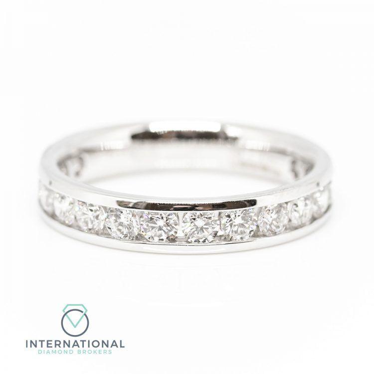 18ct White Gold 1.00ct Diamond Channel Set Half Eternity Ring