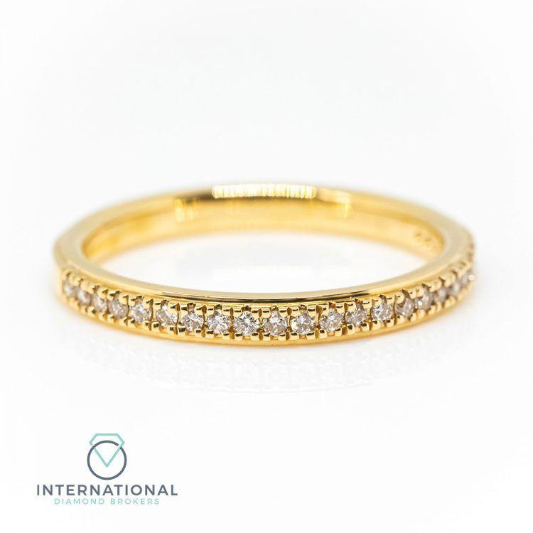 18ct Yellow Gold 0.22ct Diamond Half Eternity Ring