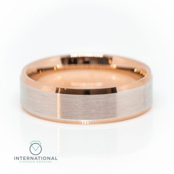 Gents Brushed Centre RG WG Band