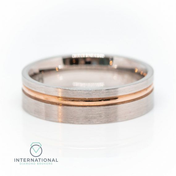 Gents Brushed RG WG Band