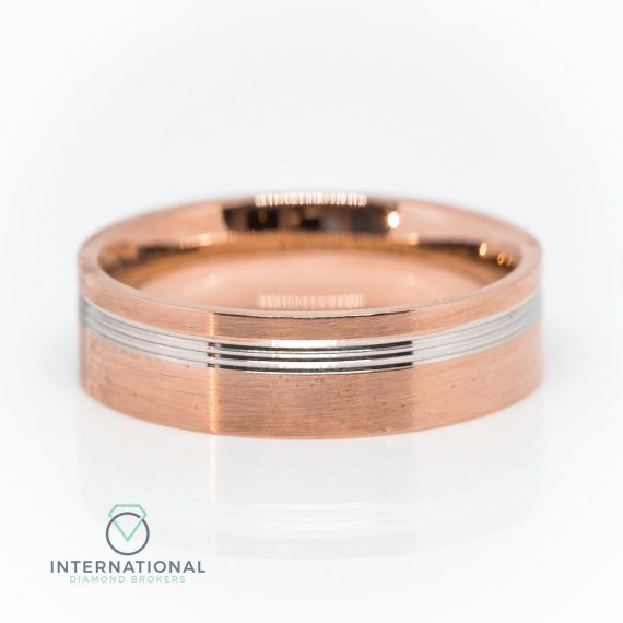 Gents Full Brushed RG WG Band
