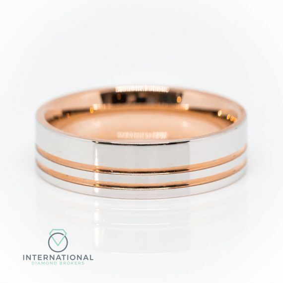 Gents RG WG Polished Band