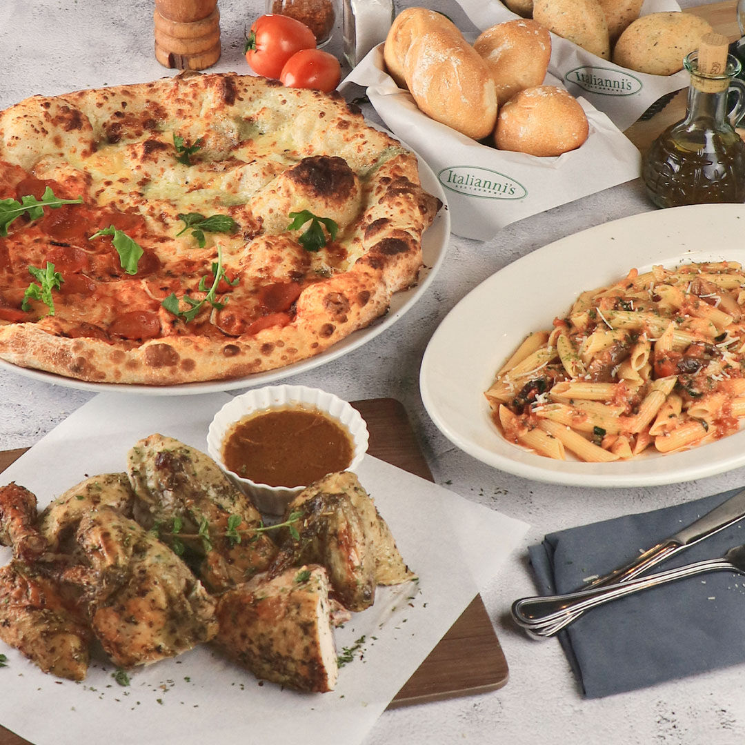 Complement dad's sunny attitude with the various American-Italian dishes served by Italianni's.