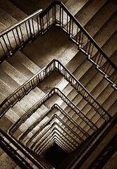 il buco nero [stairs in lecce, salento, italy]