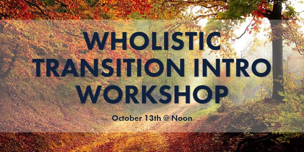 Wholistic Transition Intro Workshop