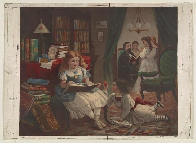 Bencke & Scott. (1872) Little Students. , 1872. [Photograph] Retrieved from the Library of Congress, https://www.loc.gov/item/2003680088/.