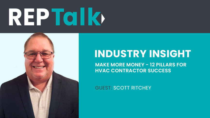 "Scott Ritchey and his Best Selling book ""Make More Money"" 12 Pillars For HVAC Contractor Success"
