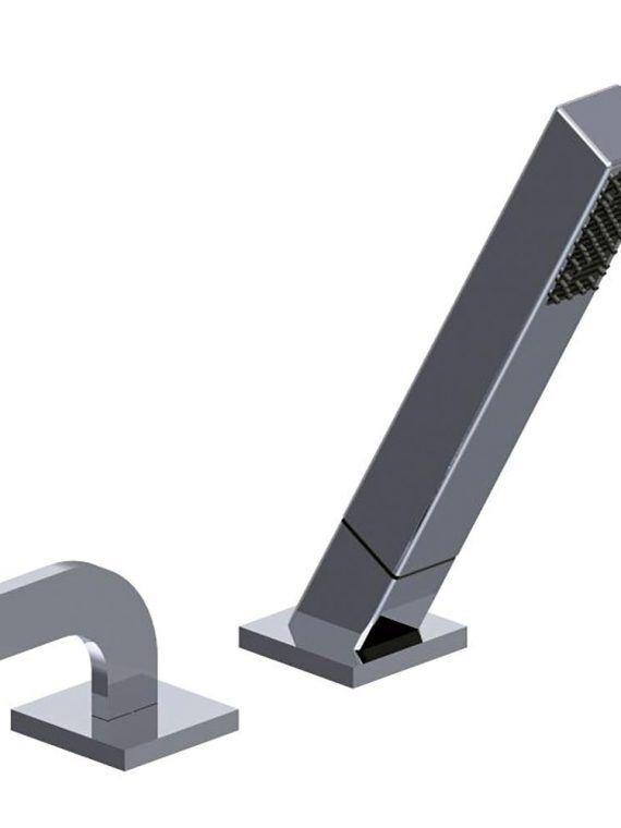 FV133:J4.0. Deck mounted Roman diverter valve and handshower assembly 1