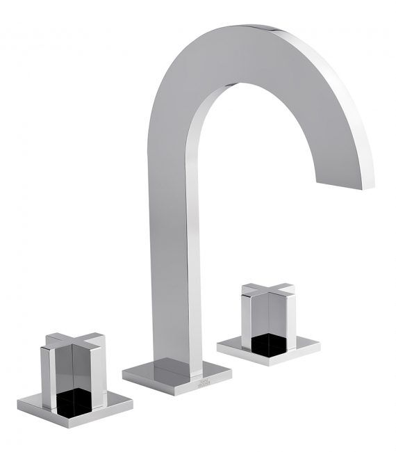 FV207:J3. Widespread lavatory faucet with push-down pop-up drain assembly (no lift rod) 6