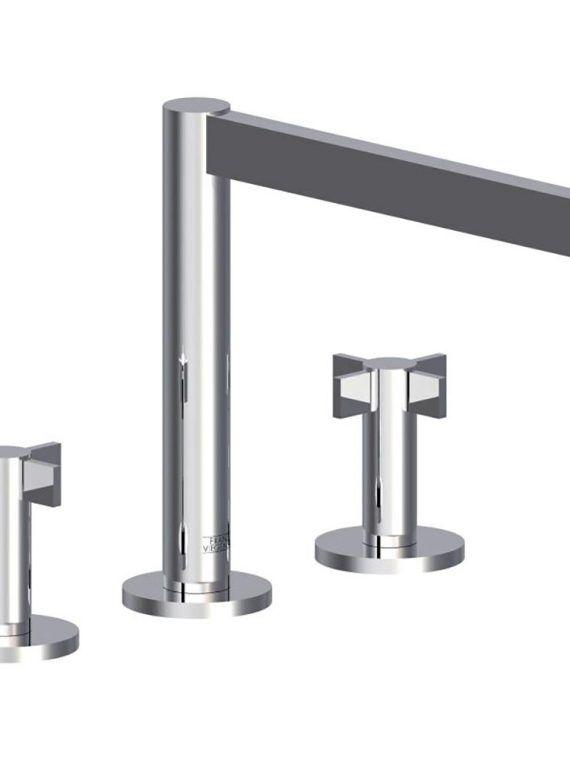 """FV210:J2. Deck mounted Roman bath faucet 3:4"""" valves"""