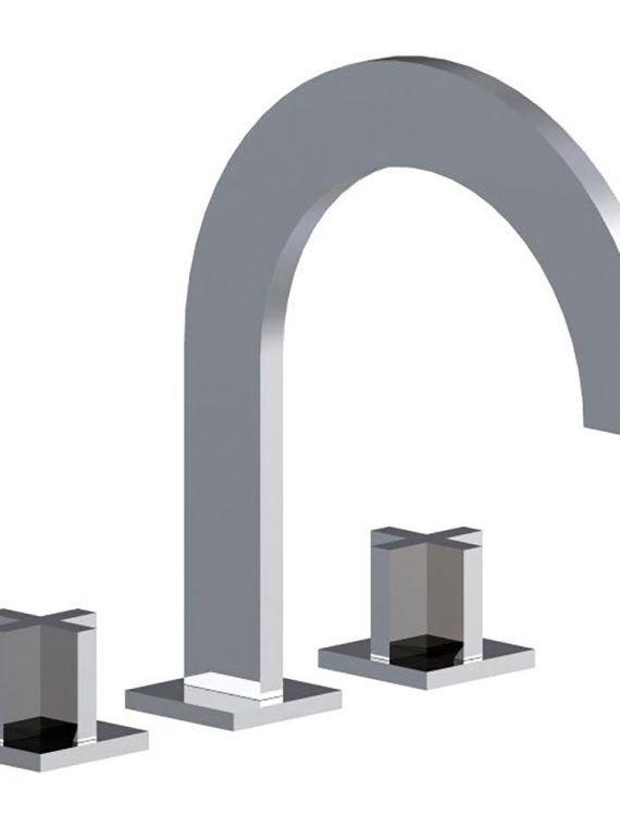 """FV210:J3. Deck mounted Roman bath faucet 3:4"""" valves 1"""
