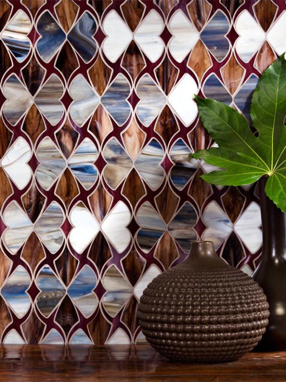 DE101-Mesmerize-mosaic-brown-glossy