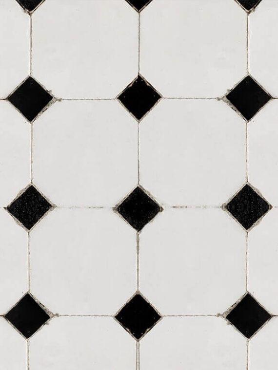 Zellige Monochrome Pattern 08