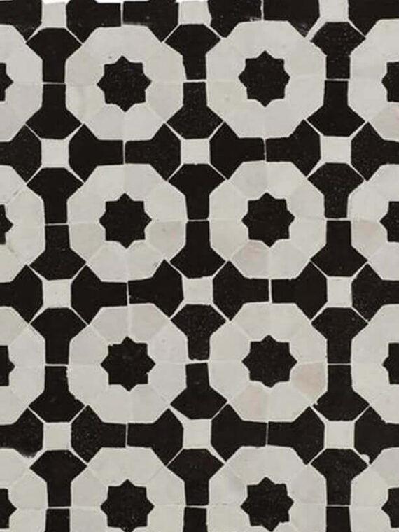 Zellige Monochrome Pattern 18