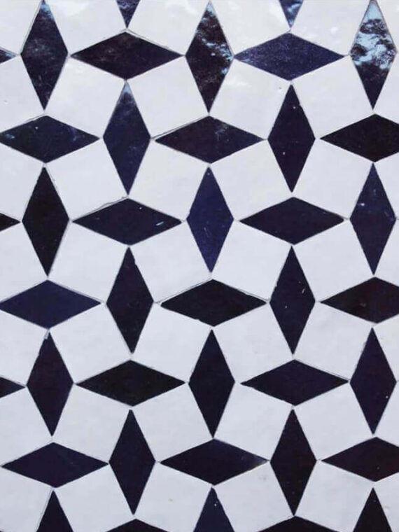 Zellige Monochrome Pattern 21