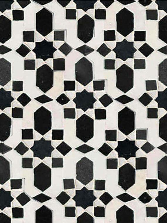Zellige Monochrome Pattern 22
