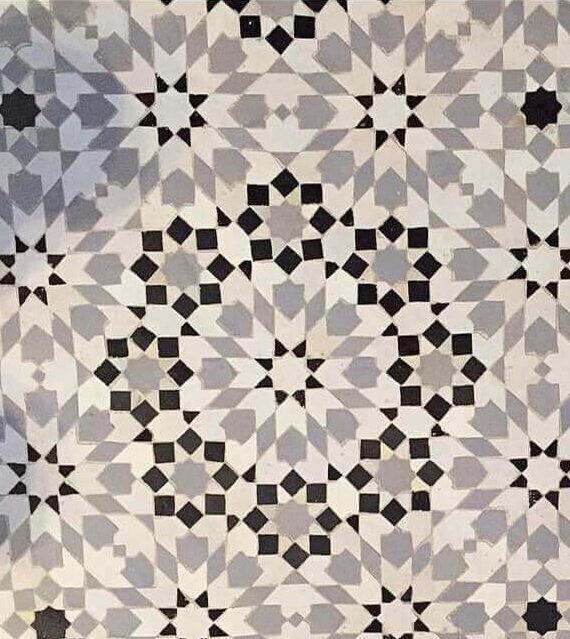 Zellige Monochrome Pattern 23