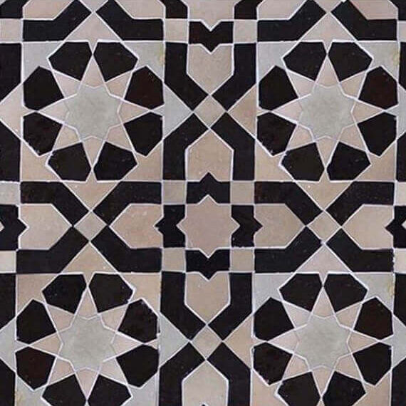 Zellige Monochrome Pattern 24