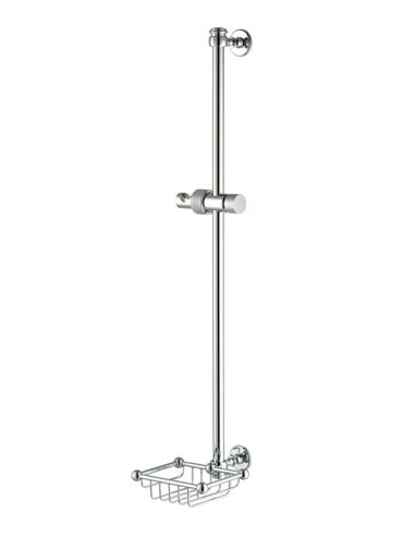 Shower Riser Rail with Basket 4-390 Cut Out
