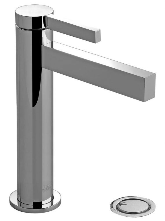 FV181.01:J2. Short vessel height, single handle lavatory set, with push-down pop-up drain assembly (no lift rod) 1