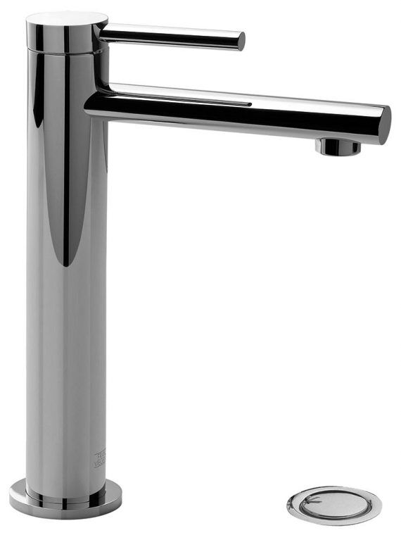 FV181.02:59. Large vessel height, single handle lavatory set, with push-down pop-up drain assembly (no lift rod)