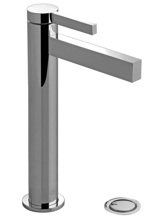 FV181.02:J2. Large vessel height, single handle lavatory set, with push-down pop-up drain assembly (no lift rod) 1