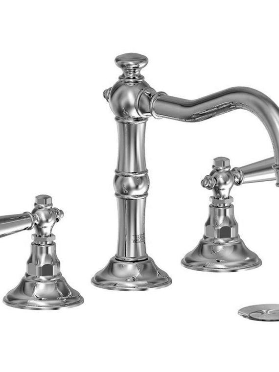 FV201:58L. Widespread lavatory faucet with pop-up drain assembly 2