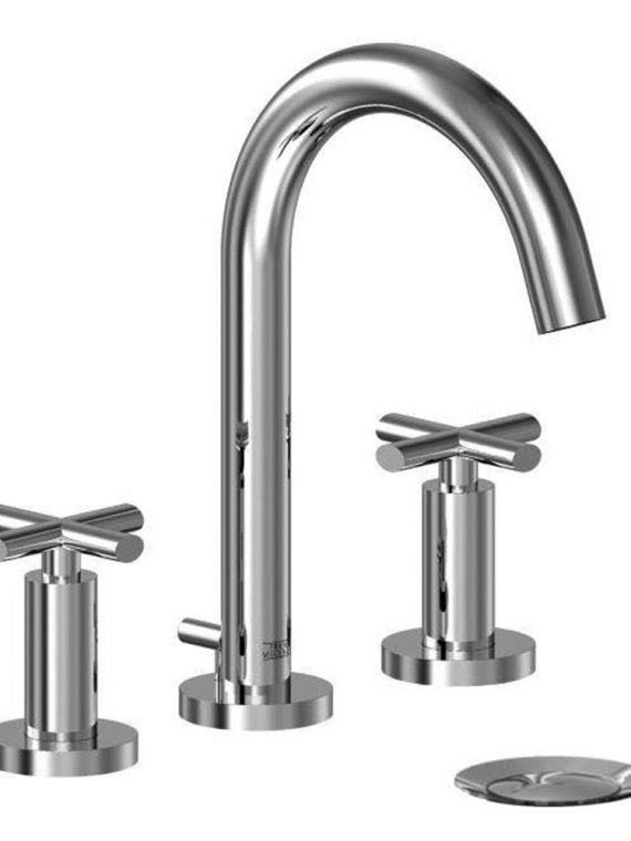 FV201:59. Widespread lavatory faucet with pop-up drain assembly 2