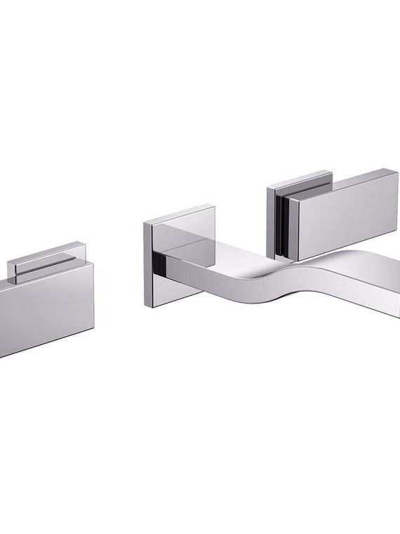 FV203:J9.0. Wall-mounted lavatory faucet, trim only 1