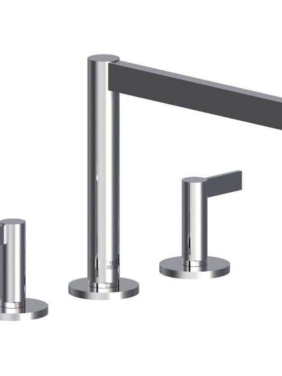 """FV210:J2L. Deck mounted Roman bath faucet 3:4"""" valves 1"""