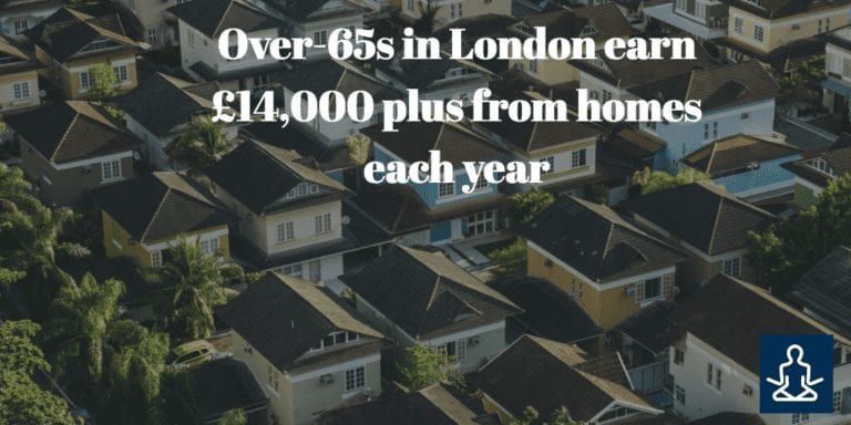 Over-65s in London earn £14,000 plus from homes each year