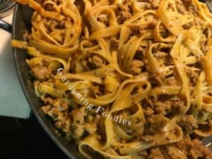 Easy one pot pasta with spicy fettuccine