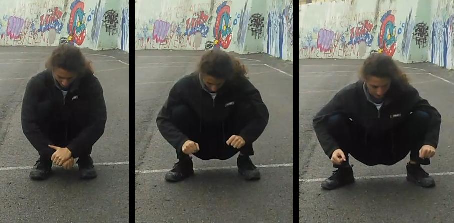 Squat - Outward push