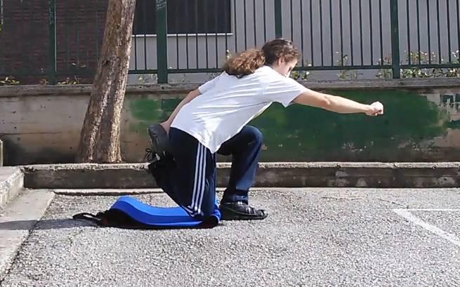 Advanced shrimp squat