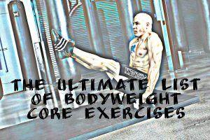 Bodyweight Core Exercises List