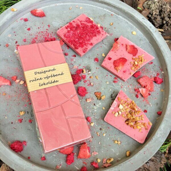 Dizajnová ruby čokoláda
