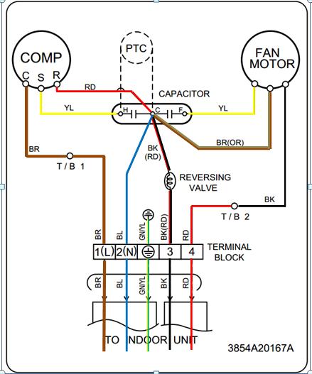 cambiar conexion electrica en minisplit lg yoreparo Diagrama En Blanco