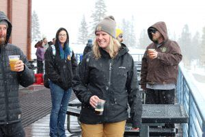 Employees beer deck