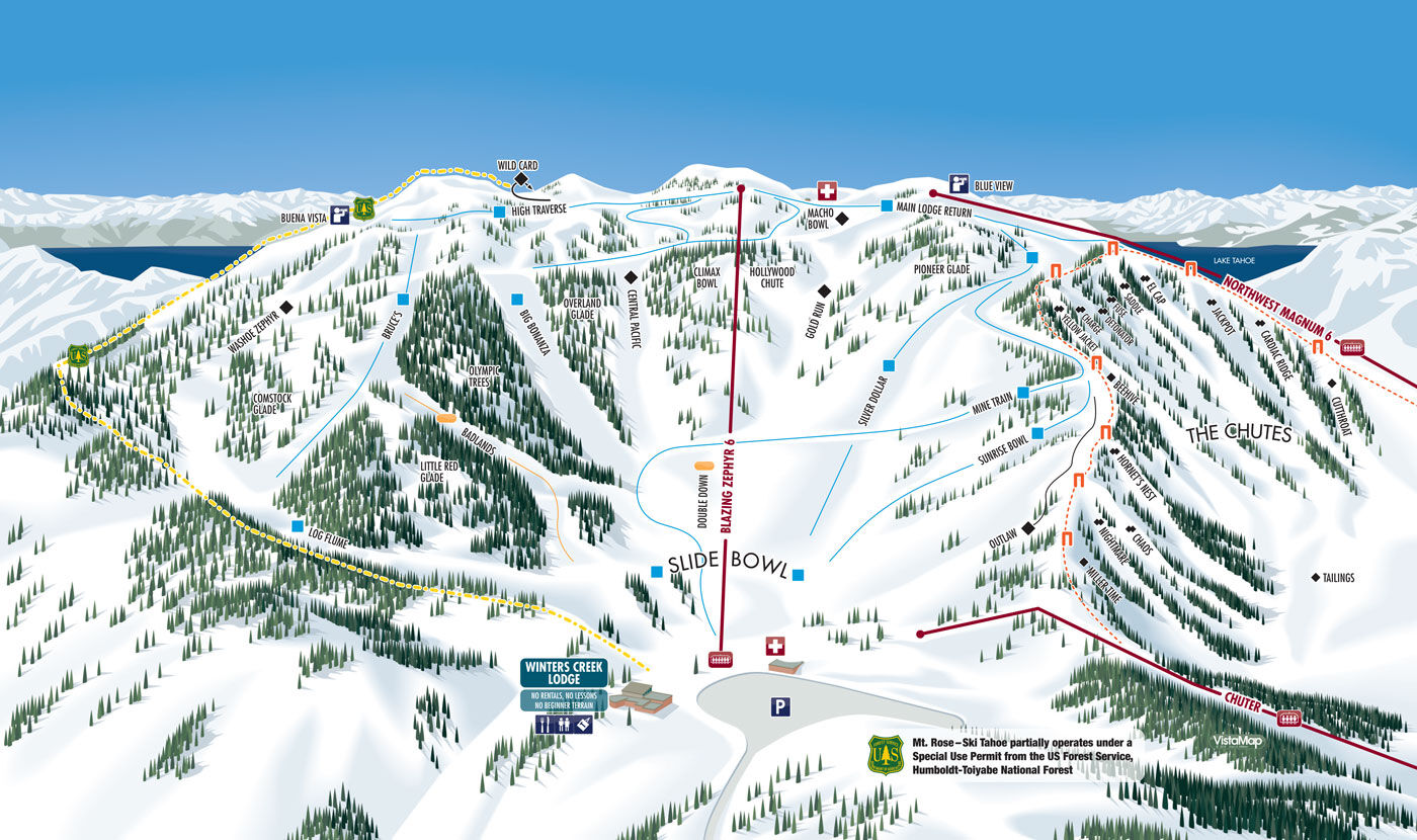 Trail Maps - Mt. Rose Ski Tahoe on