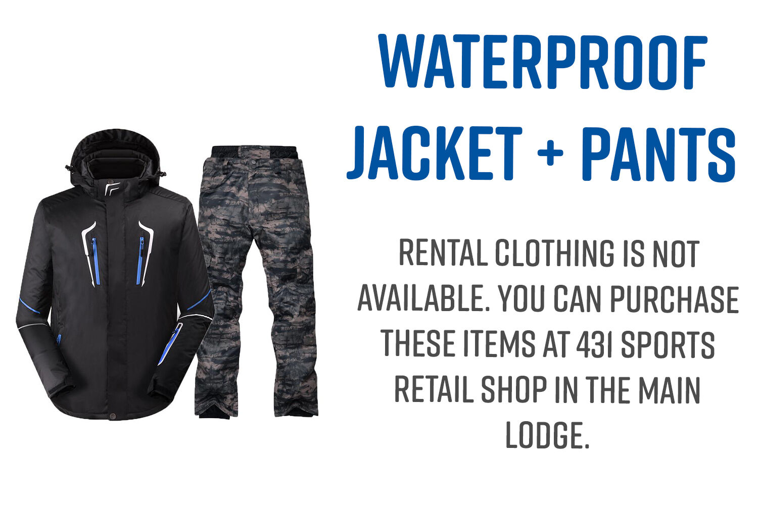 Waterproof jacket and pants